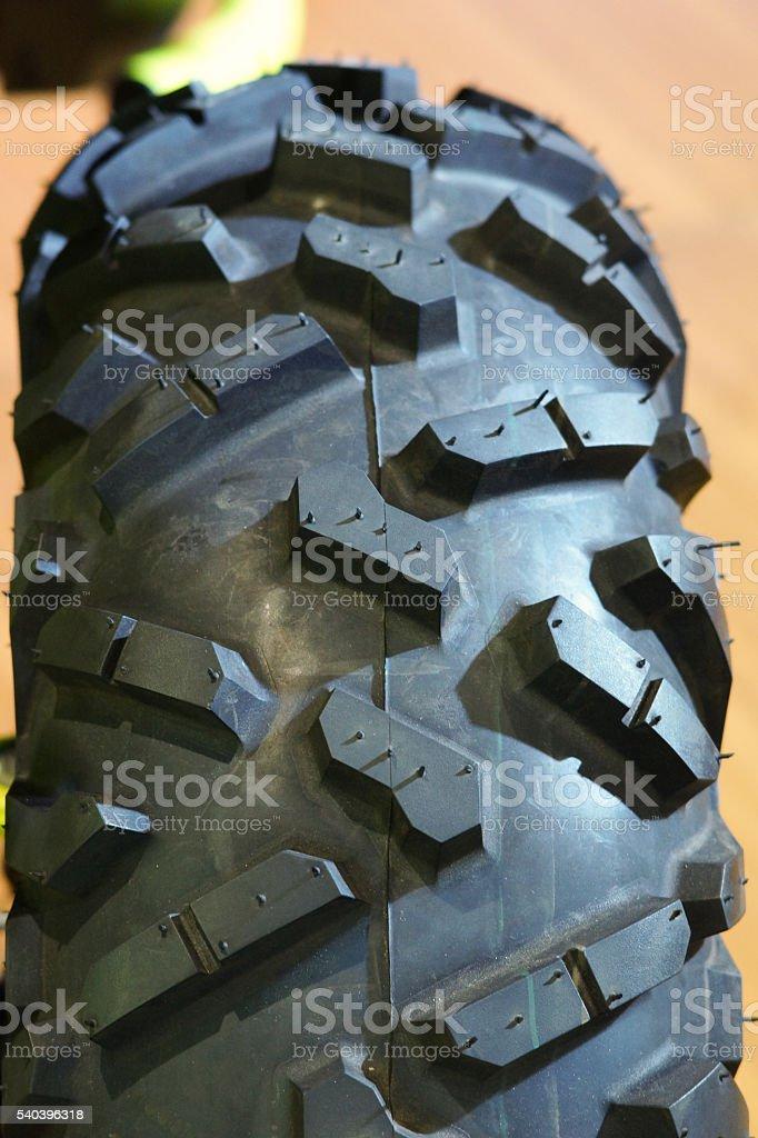 ATV whell texture stock photo