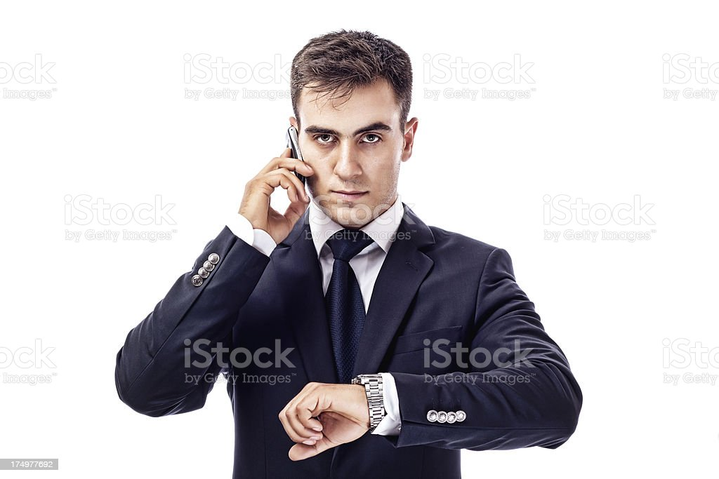 When competing with businessman royalty-free stock photo