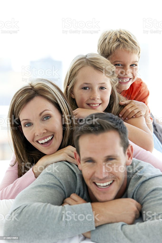 When Happiness is obvious stock photo