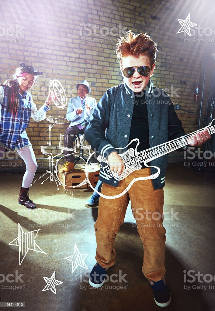 When I grow up I want to be… a rockstar! stock photo
