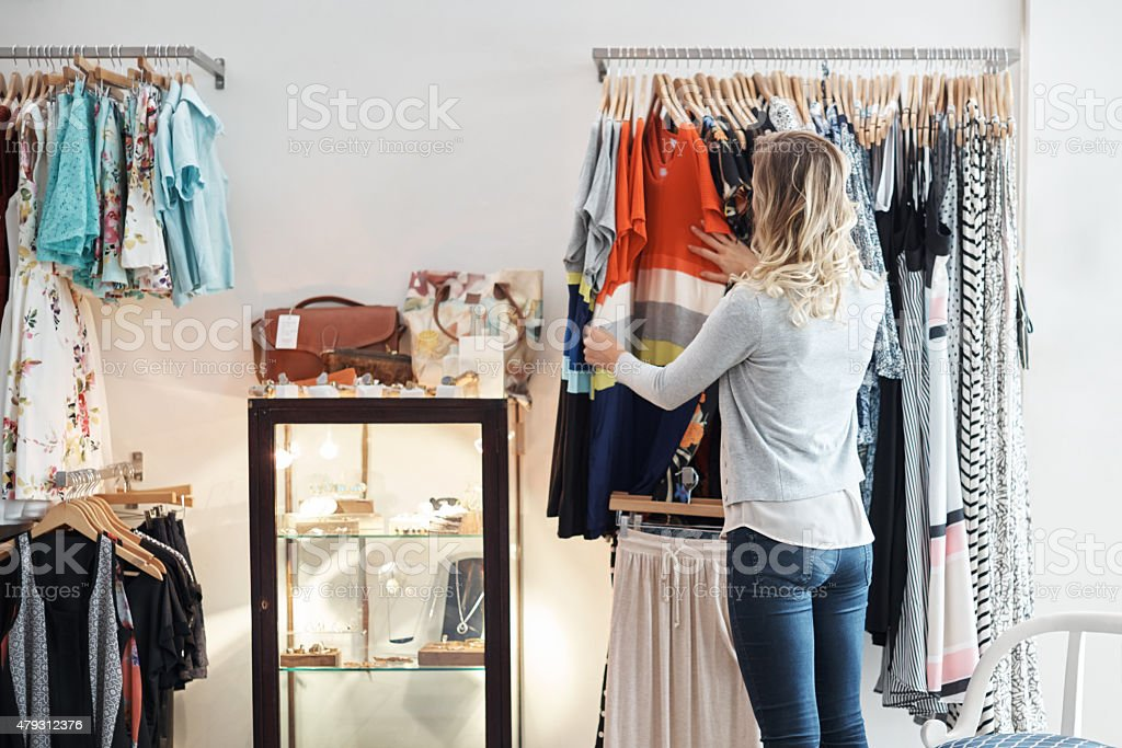 When in doubt, go shopping stock photo