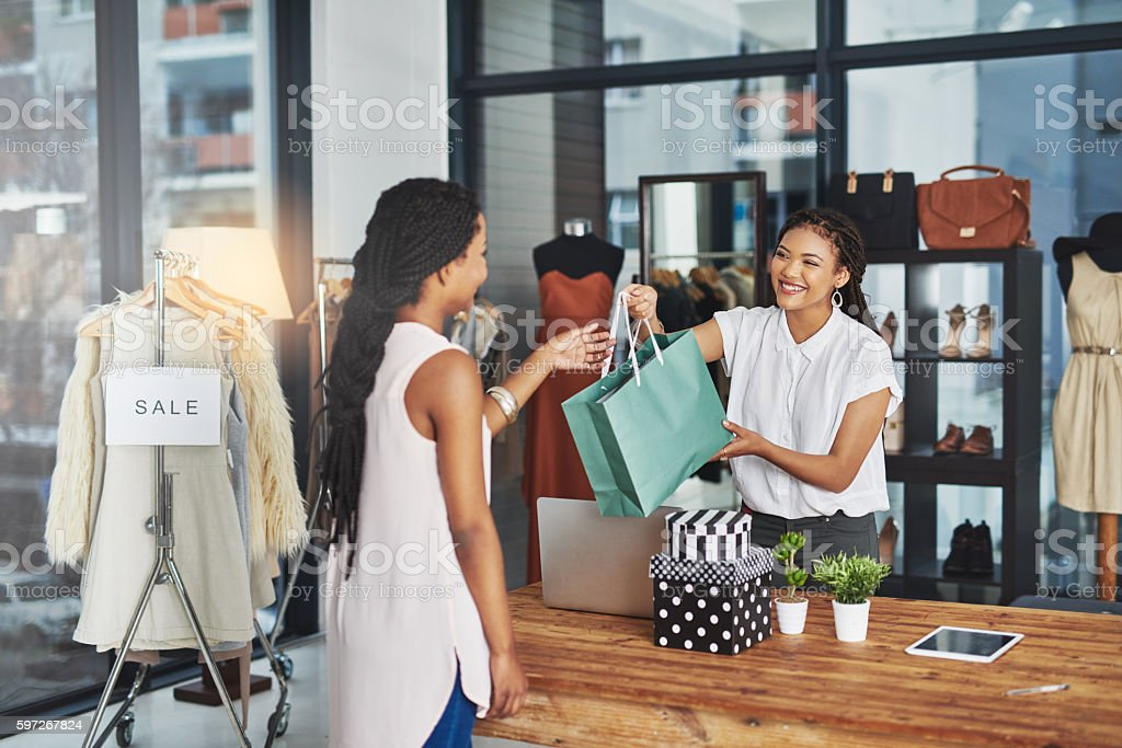 When in doubt, shop stock photo