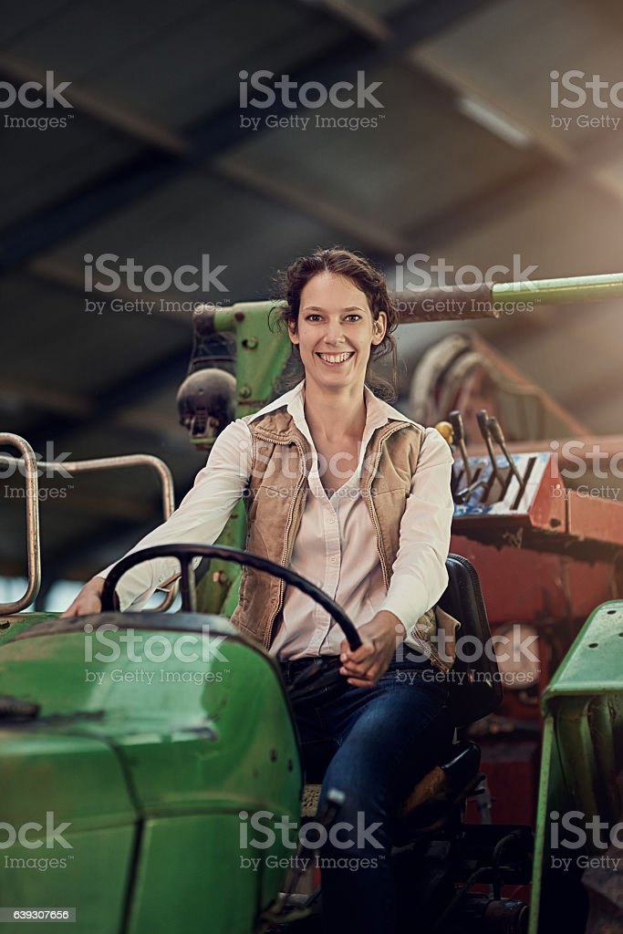 When it comes to tractors, I'm a natural stock photo