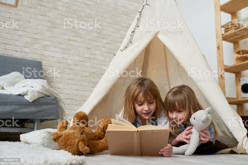 When kids staying home alone stock photo