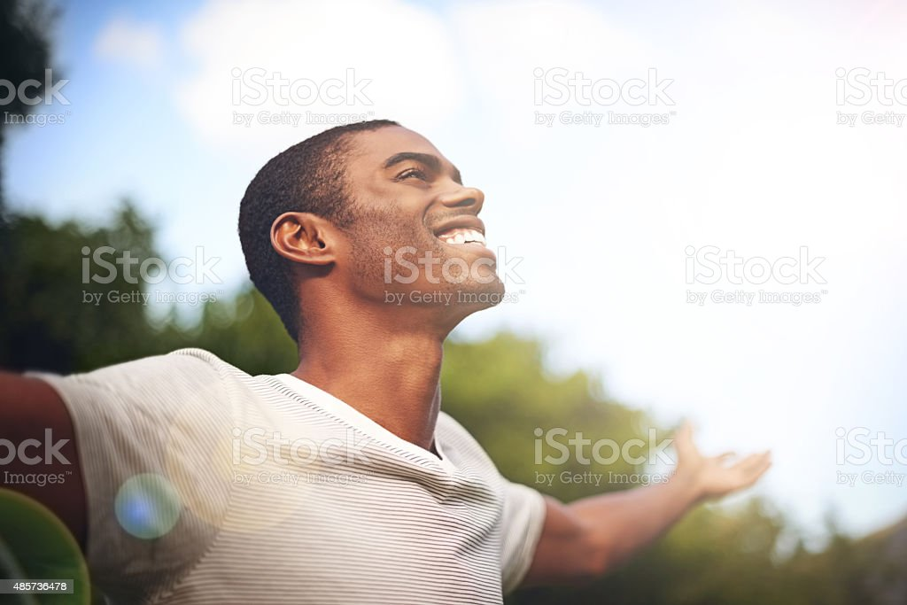 When life smiles at you, smile back stock photo