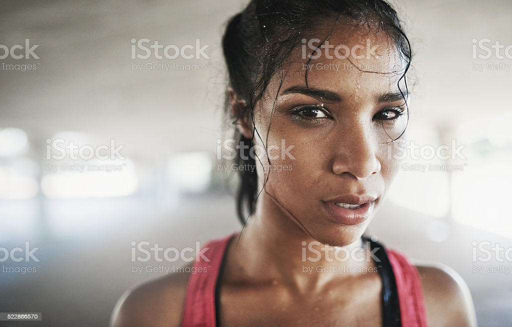 When my body shouts stop, my mind screams never stock photo