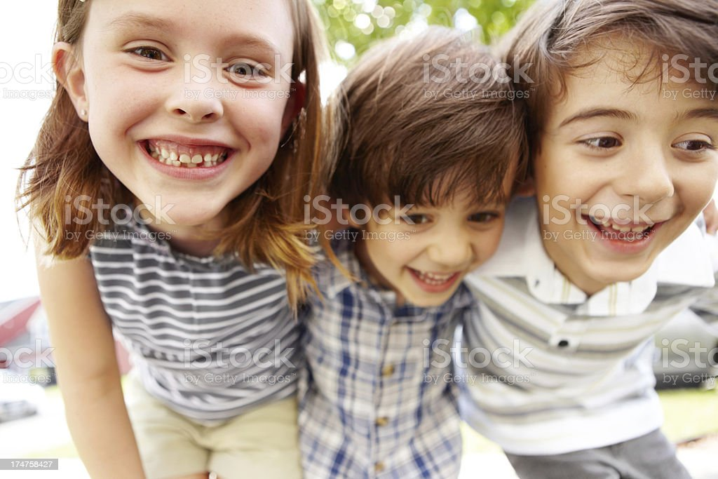 When parents are away...mischief royalty-free stock photo