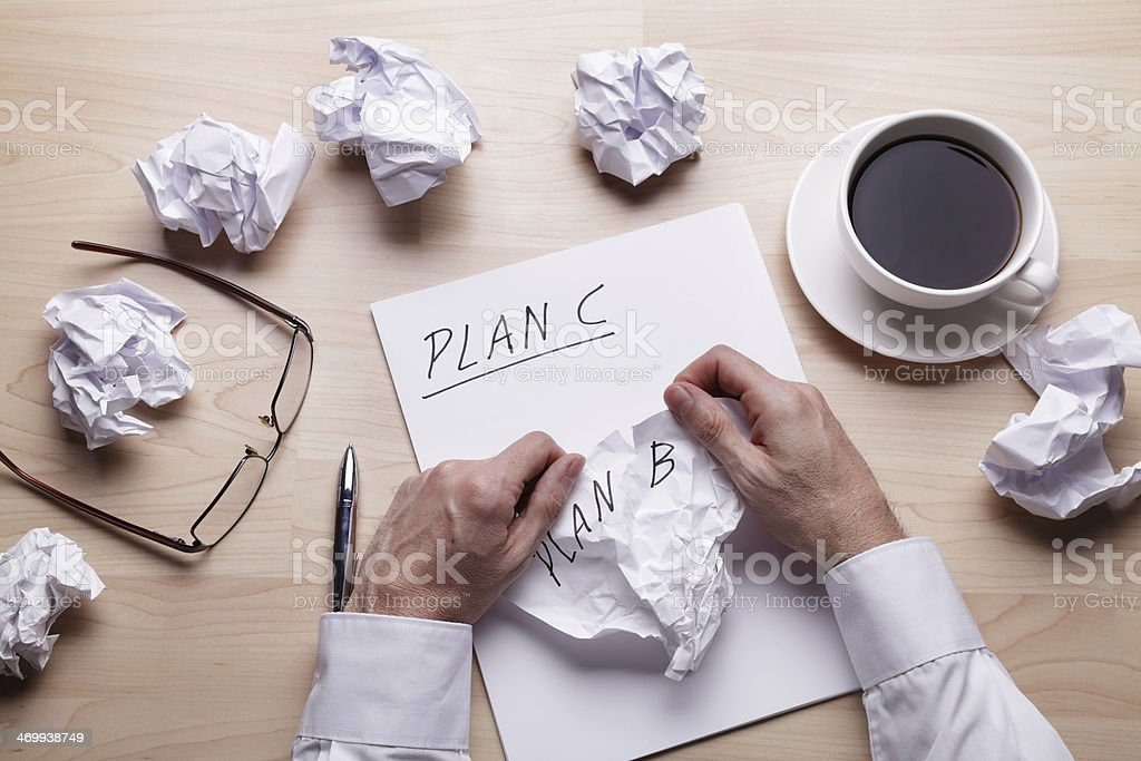 When Plan B doesn't work... stock photo
