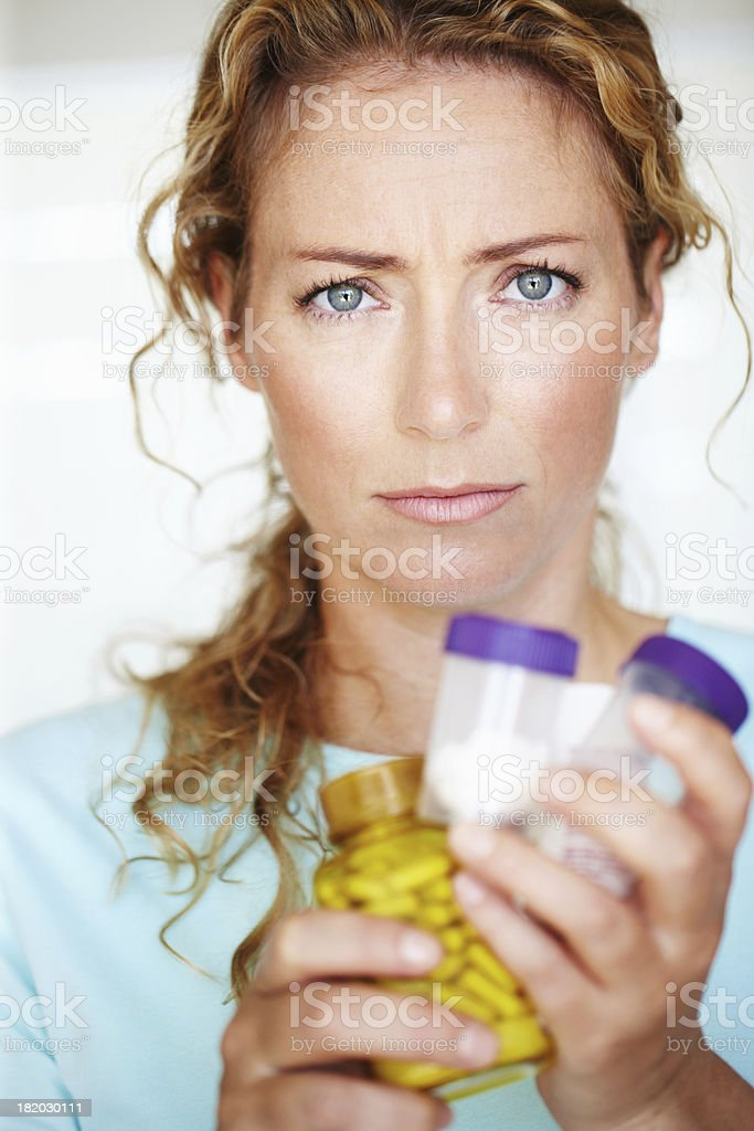 When self-medicating becomes a crutch royalty-free stock photo