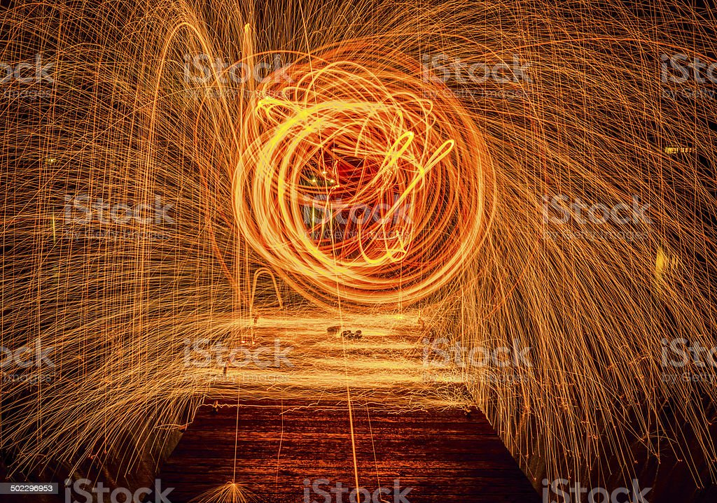 When Sparks Fly stock photo