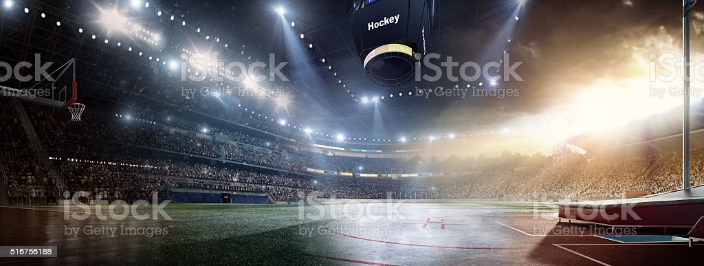 When sports meet each other stock photo
