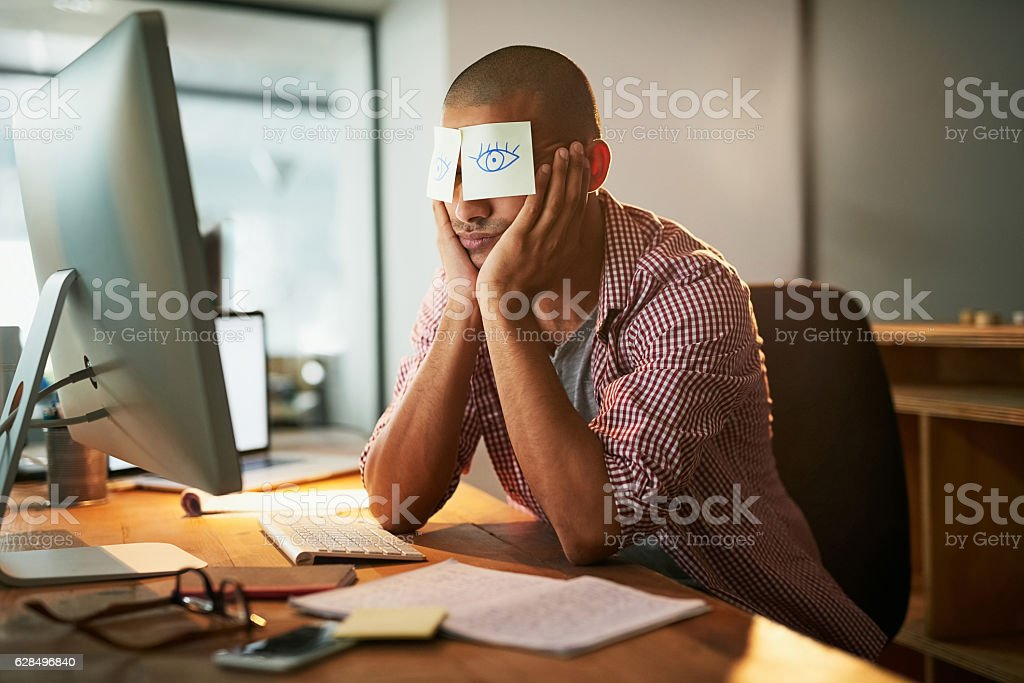 When staying awake is near impossible stock photo
