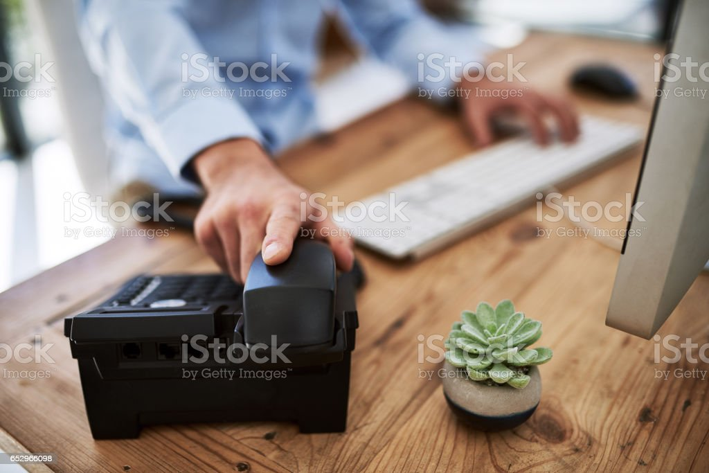 When success calls, pick up that phone stock photo