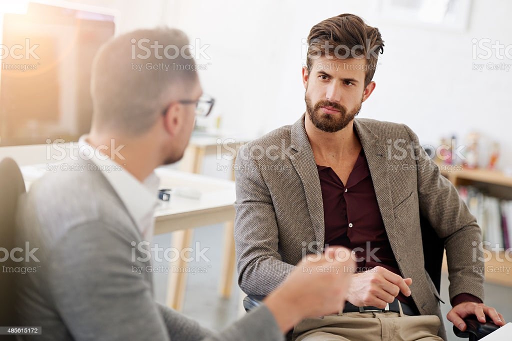 When the boss talks, you listen... stock photo