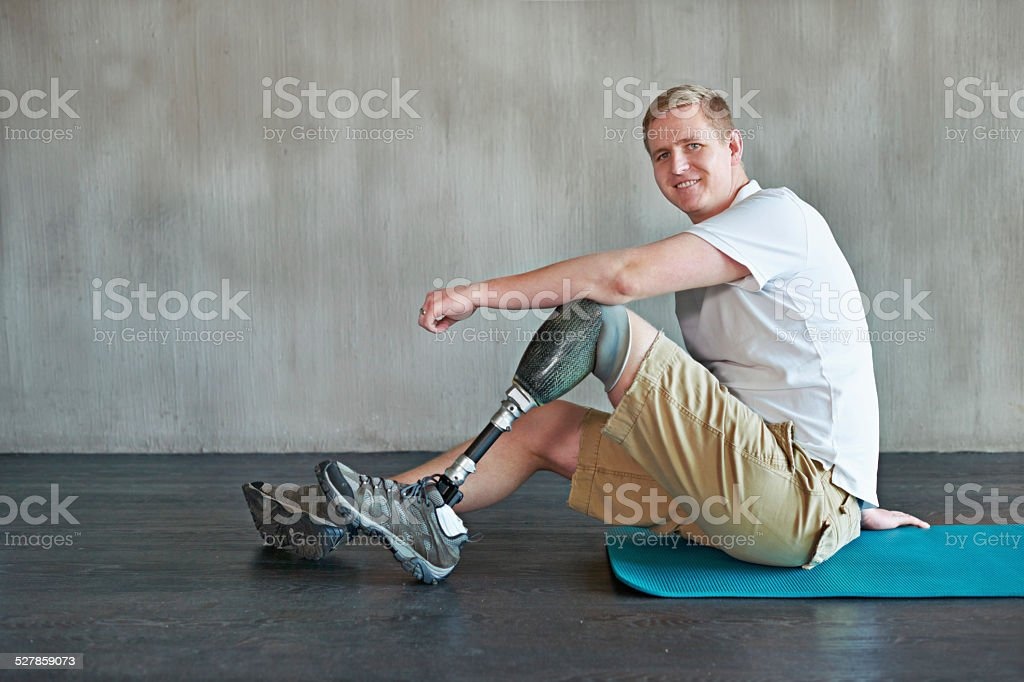 When the mind is strong, the body follows stock photo