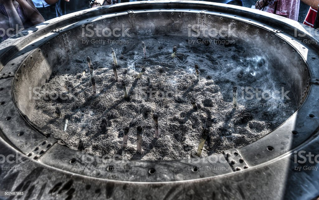 When the smoke clears stock photo