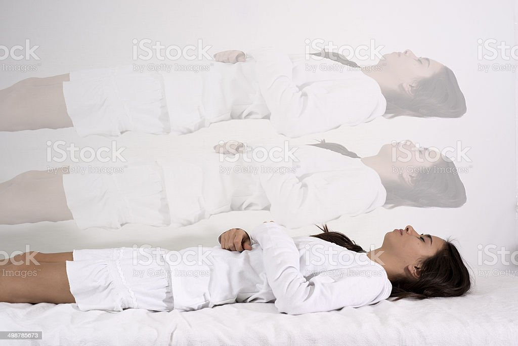 When the soul leaves the body. stock photo