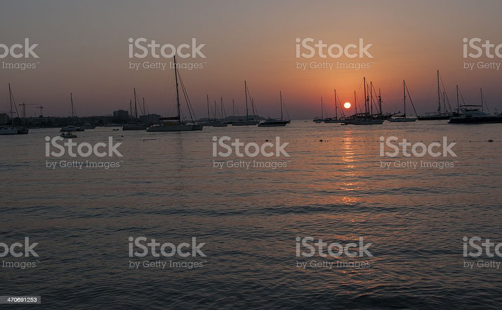 When the sun stock photo