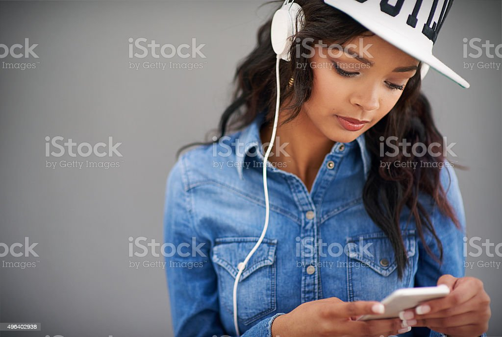 When the world gets loud I get louder stock photo