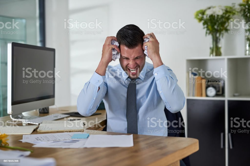 When will I see an end to these deadlines?! stock photo