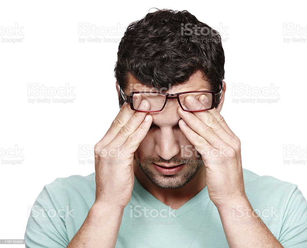 When will this headache end? royalty-free stock photo