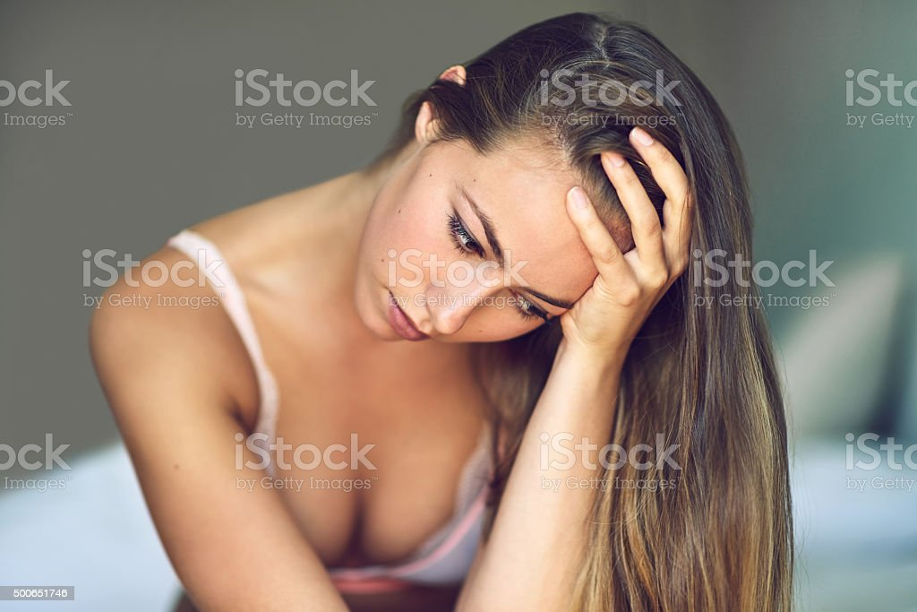 When you feel everything and nothing at the same time… stock photo