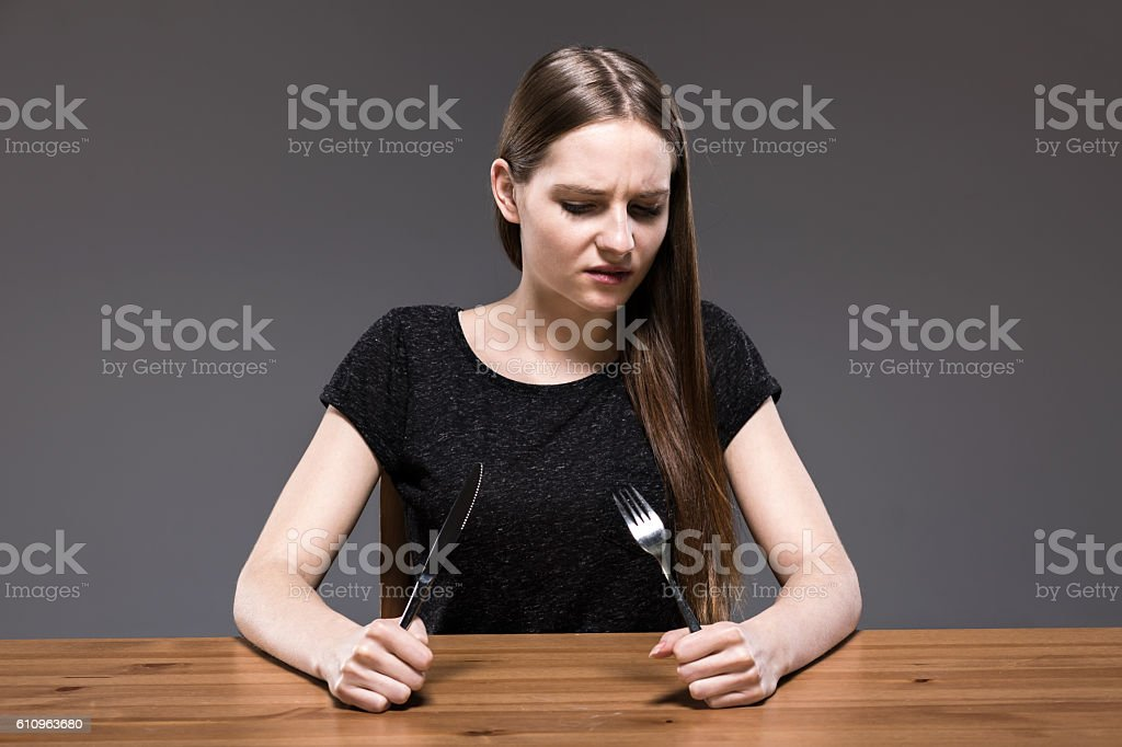 When you feel hunger stock photo