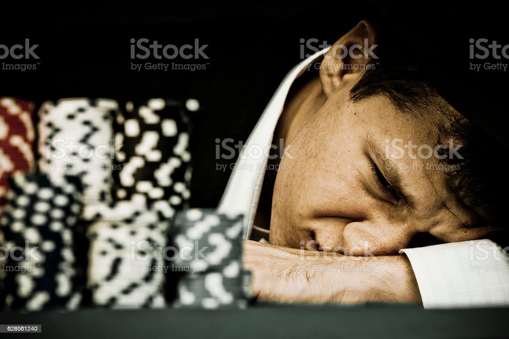 When you lose everything stock photo