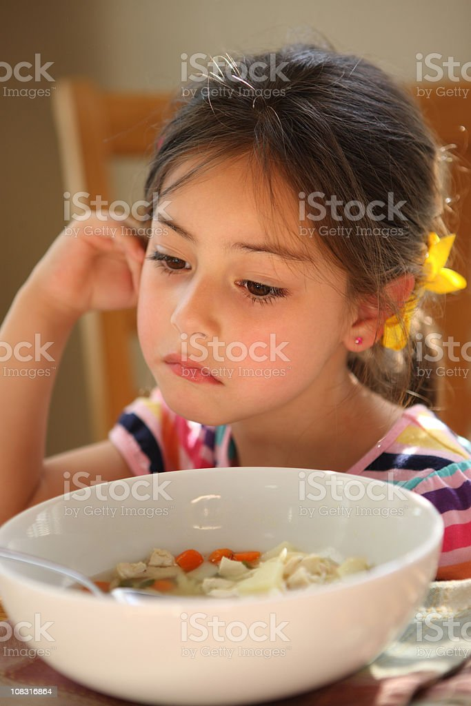 When Your Child Doesn't Want to Eat royalty-free stock photo