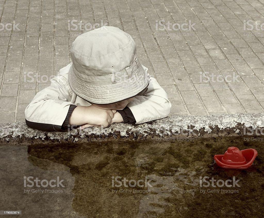 Where children's dreams sail away? (1) royalty-free stock photo