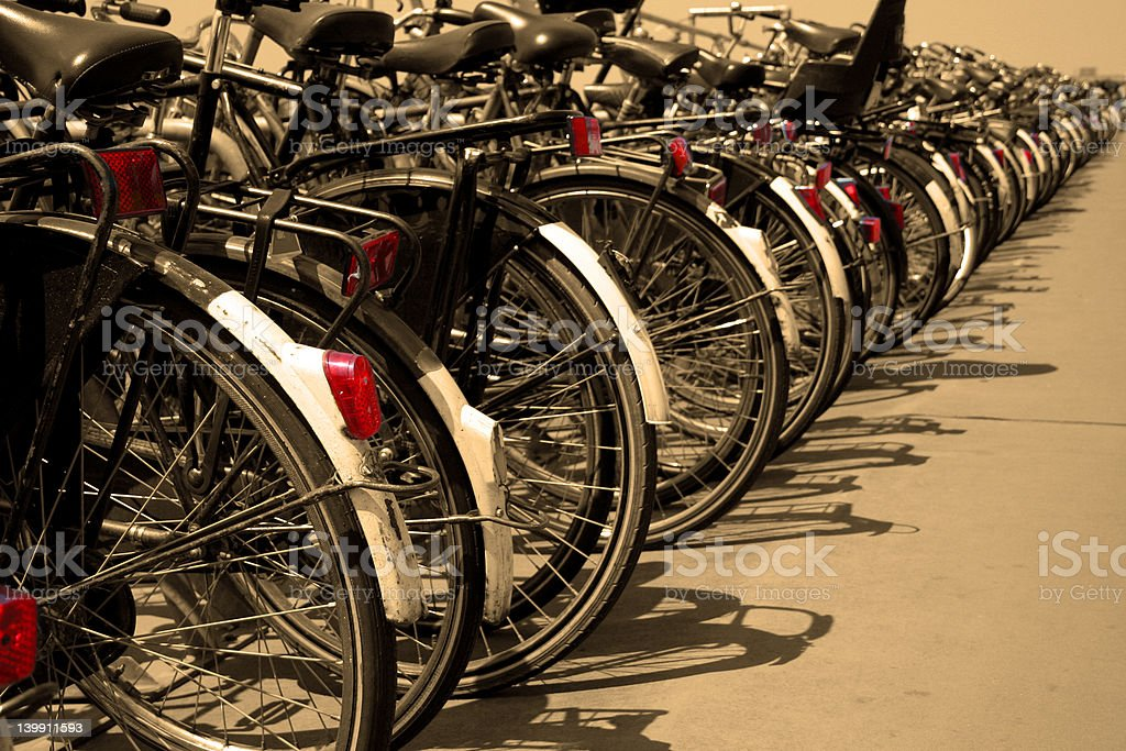 Where did I park my bicycle? royalty-free stock photo
