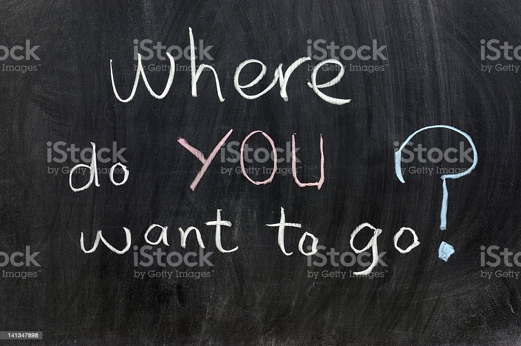 Where do you want to go? royalty-free stock photo