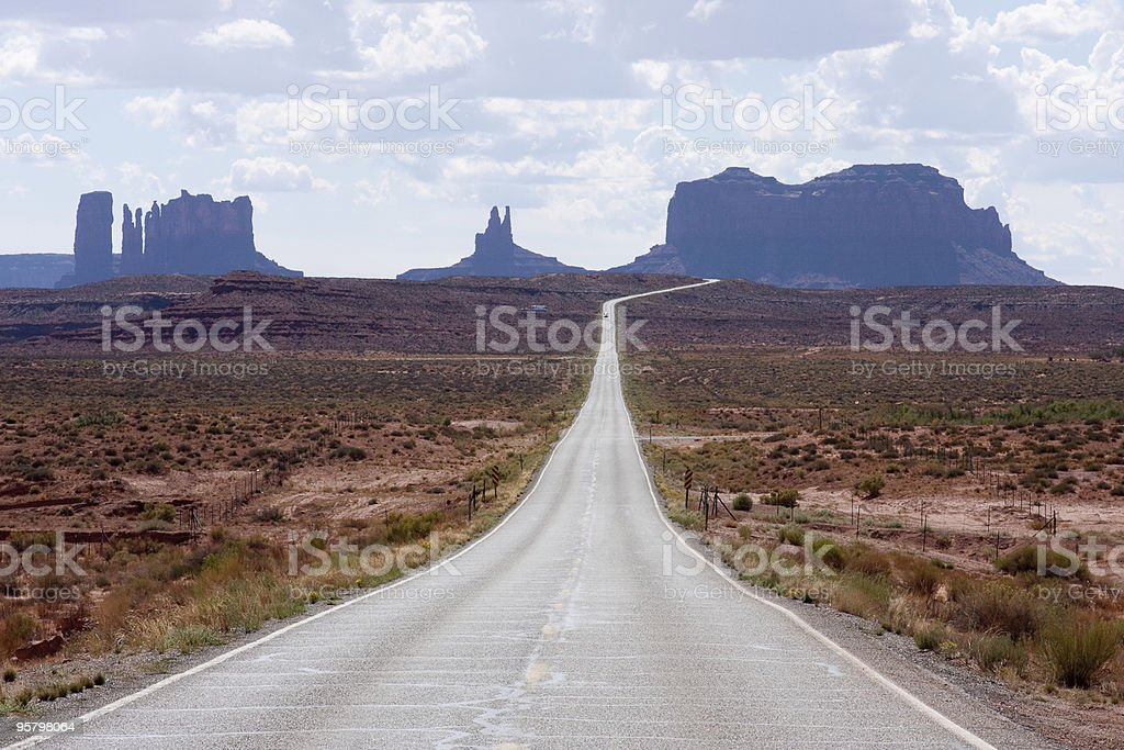 Where Forrest Gump Stopped Running royalty-free stock photo
