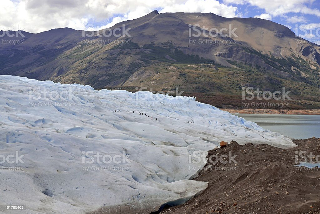 Where Glacier Meets Land and Water, Patagonia, Argentina stock photo
