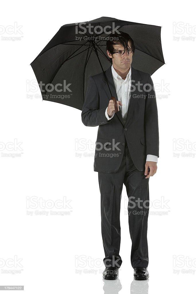 Where I go the rain follows stock photo