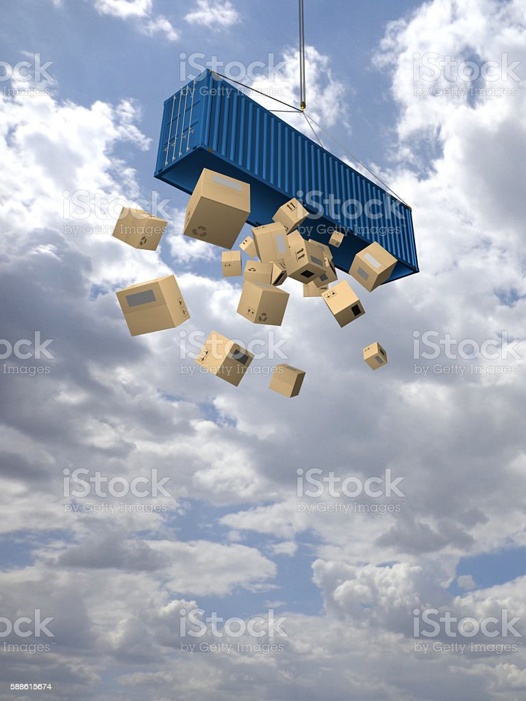 Where is my cargo? stock photo