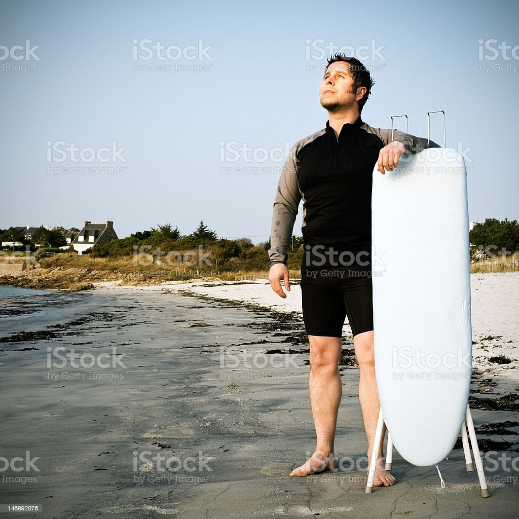 Where is my surfboard ? stock photo