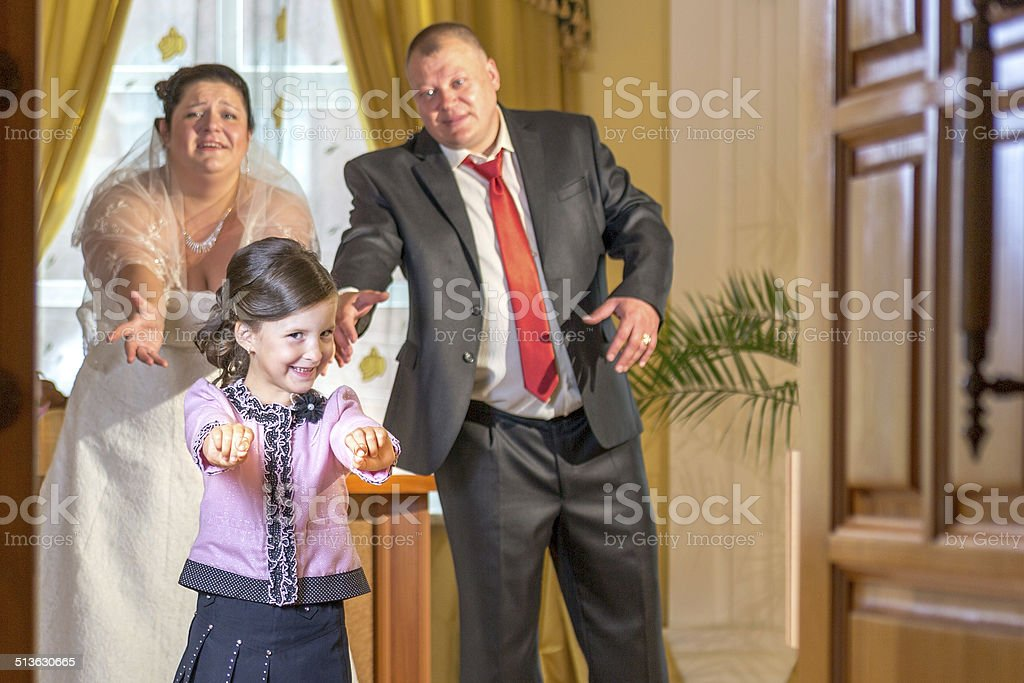 Where is our wedding rings? stock photo