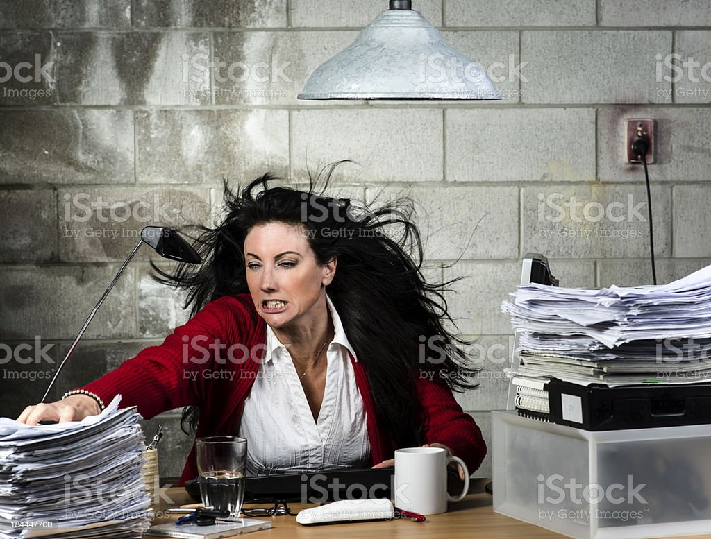 Where is that bloody document royalty-free stock photo