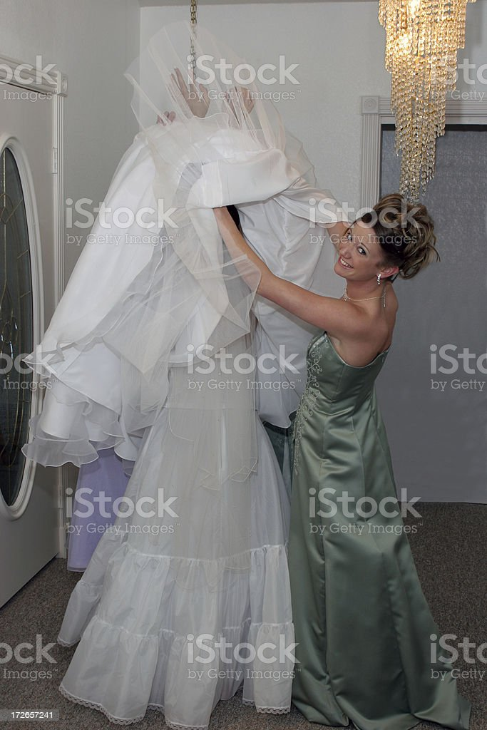 Where is the Bride royalty-free stock photo