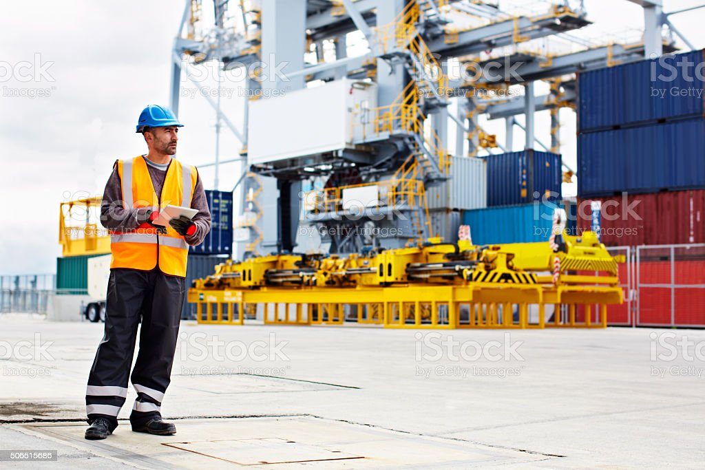 Where is this container? stock photo