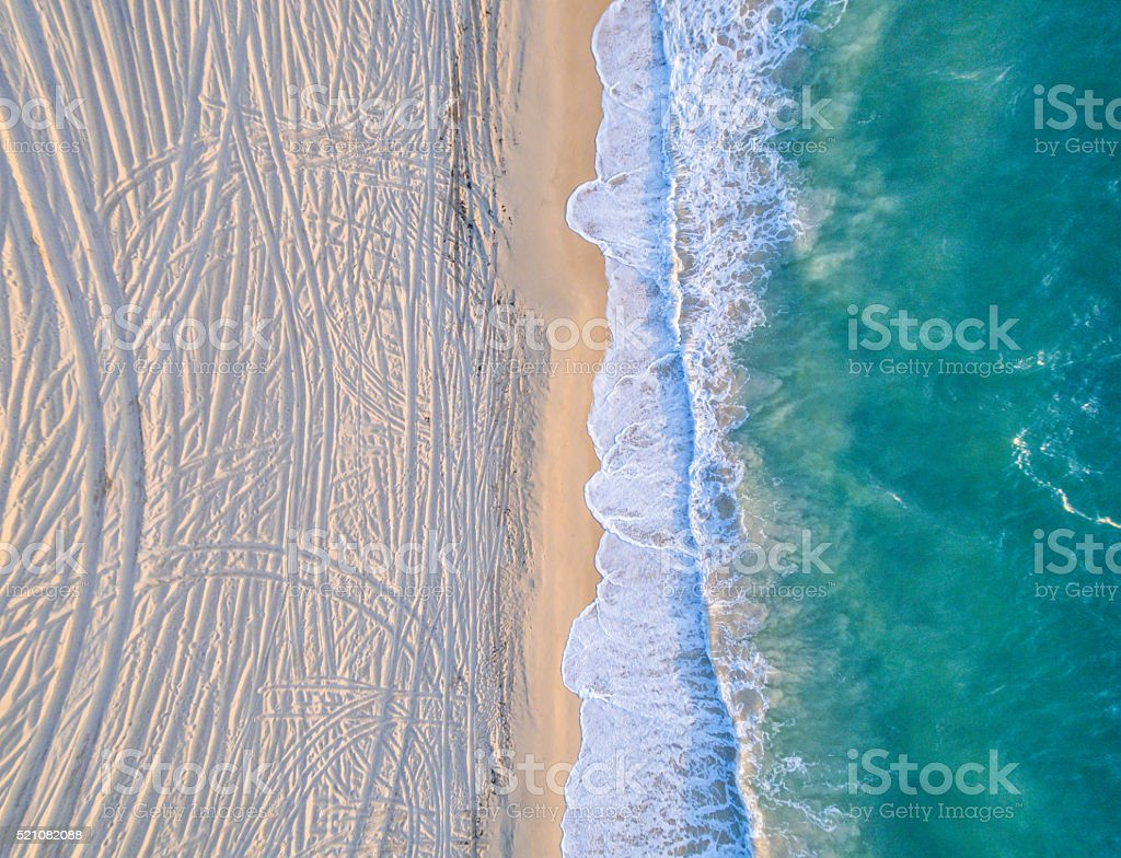 Where Ocean meets the Textured Land stock photo