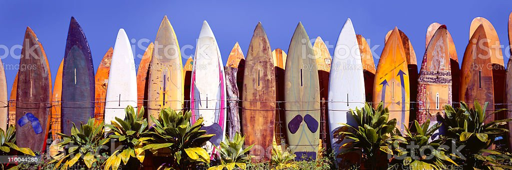 Where old Surfboards go to Die stock photo
