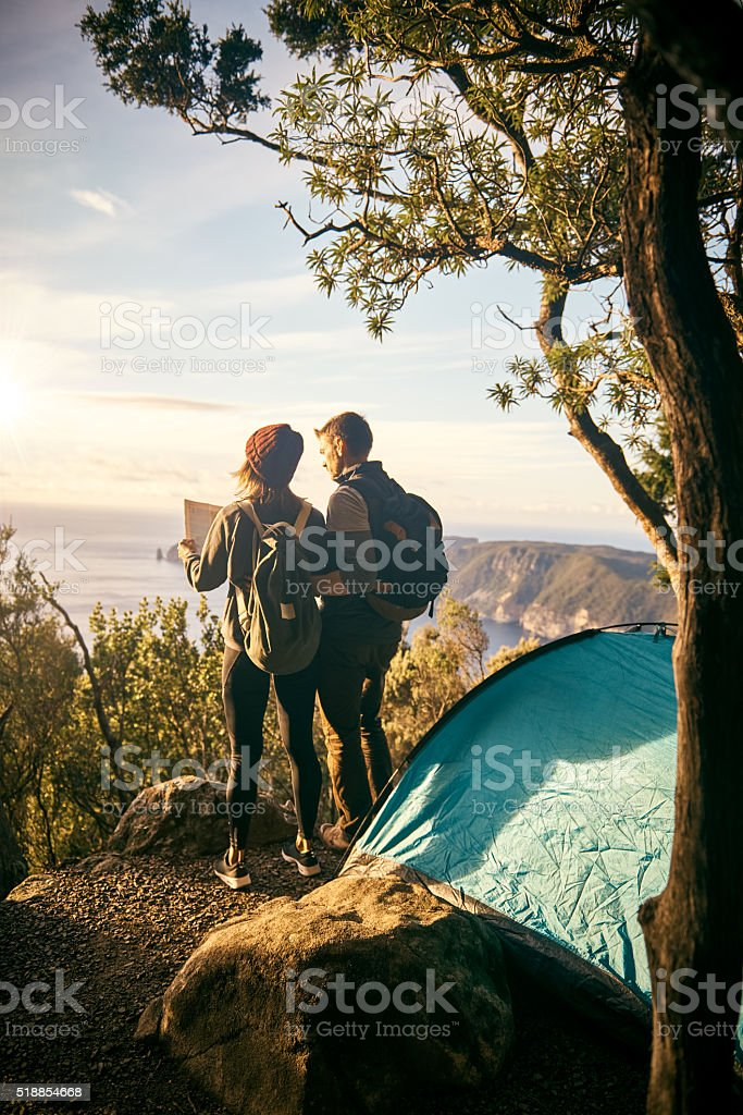 Where should we hike first? stock photo
