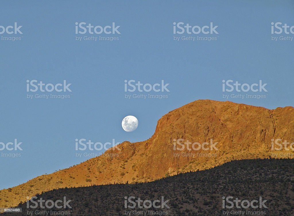 where the moon rise royalty-free stock photo