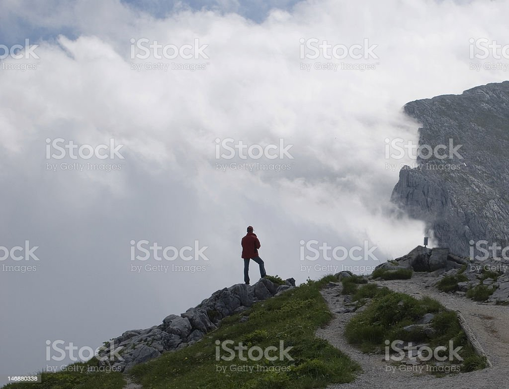 Where the physical ends and faith begins stock photo