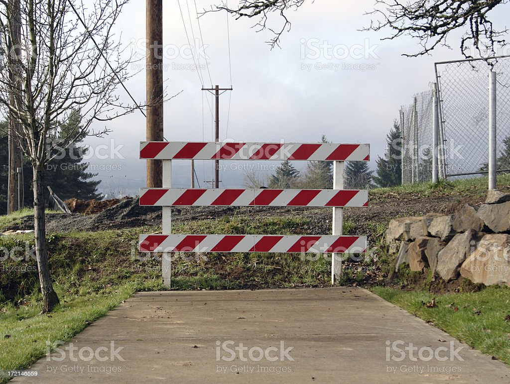 Where the Sidewalk Ends royalty-free stock photo