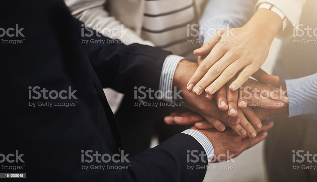 Where there is unity there is victory stock photo