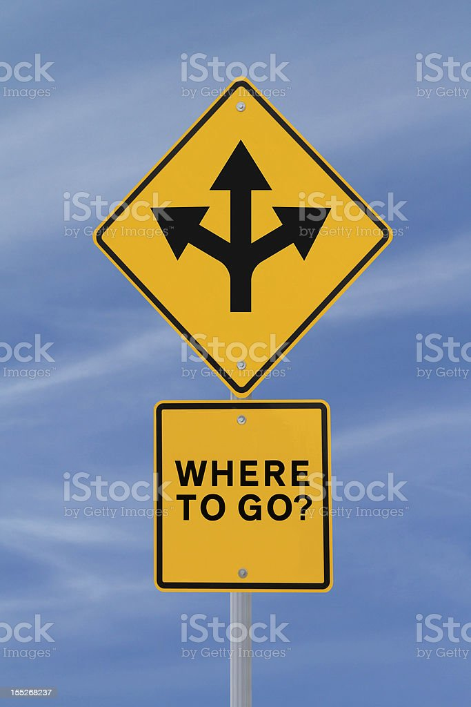 Where To Go? stock photo