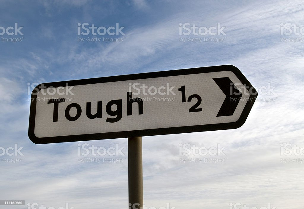 Where to go when the going gets tough... royalty-free stock photo